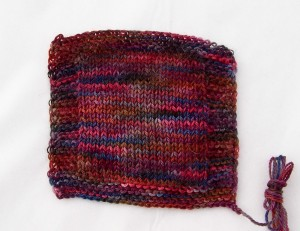 Variegated swatch stockinette